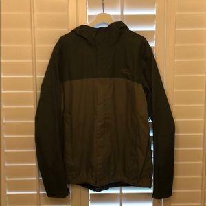 XL Green North Face Rain Jacket